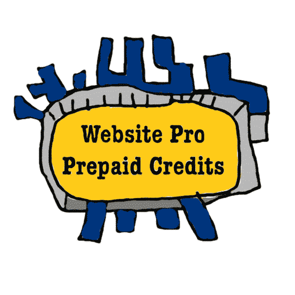 Website Pro Prepaid Credits