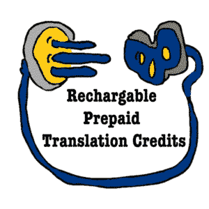 Rechargeable Prepaid Translation Credits