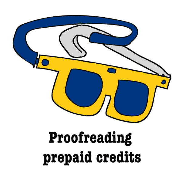 Prrofreading prepaid credits